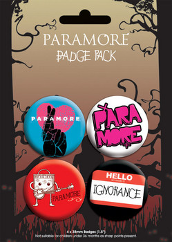 PARAMORE - pack 2 Badge