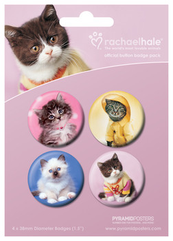RACHAEL HALE - cats 2 Badge Pack