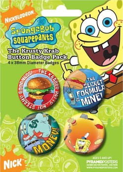 SPONGEBOB - krusty krab Badge Pack