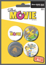 THE SIMPSONS MOVIE - attitude Badge Pack