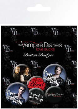 The Vampire Diaries - Stefan & Damon Badge