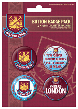 WEST HAM UNITED - No.1 support Badge