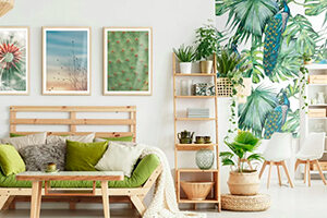 Wall murals for the living room