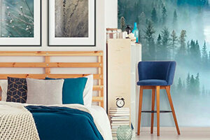 Wall murals for the bedroom