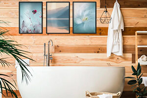 Wall murals for the bathroom