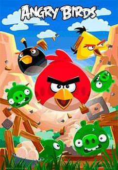 3D Julisteet Angry birds - smash
