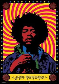 3D Julisteet Jimi Hendrix - psychedelic 3D