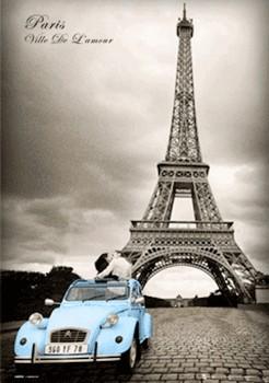 3D Julisteet Pariisi - romance