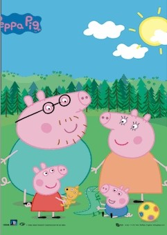 3D Julisteet PEPPA PIG - family