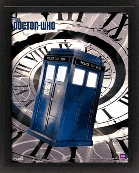 Doctor Who - Tardis Time Spiral 3D kehystetty juliste