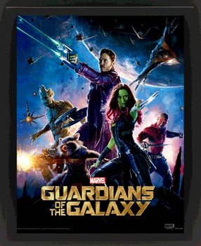 Guardians Of The Galaxy 3D kehystetty juliste