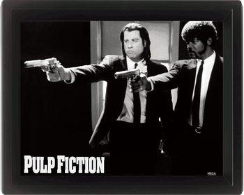 PULP FICTION - guns 3D kehystetty juliste
