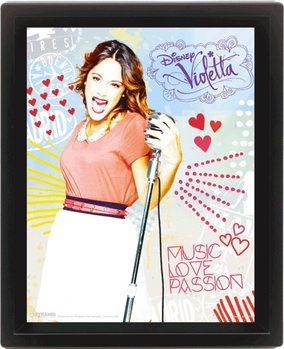 Violetta - Passion 3D kehystetty juliste