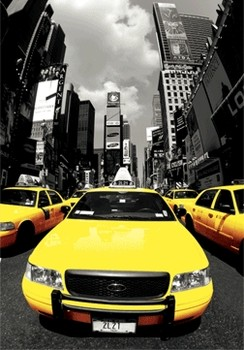 3D poster  New York - yellow cabs