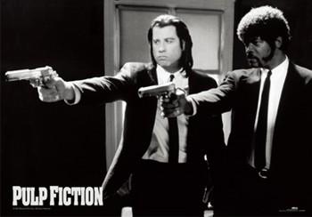 3D poster Pulp fiction - guns