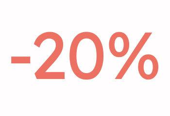 20% alennus