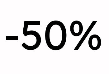 50% alennus