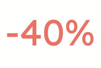 40% alennus