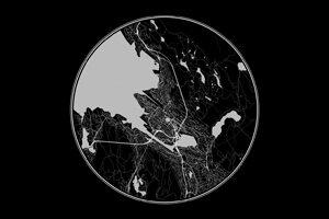 Black circle maps