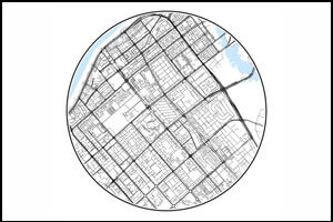 White circle maps