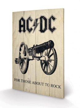 AC-DC - For Those About to Rock Panneaux en Bois