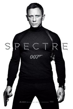 007 Spectre - Black and White Teaser Poster