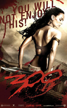 300 - you will not enjoy this Affiche