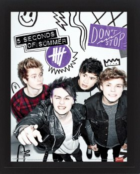 5 Seconds of Summer - Single  Poster en 3D encadré