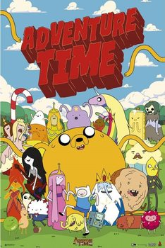 Adventure time - personajes Affiche