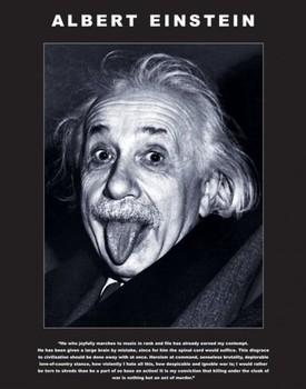 Albert Einstein - tongue Affiche
