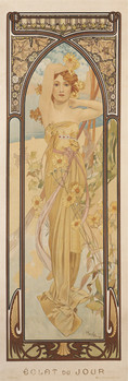 Alfons Mucha - clear day Affiche