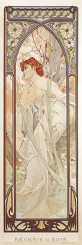 Alfons Mucha - evening dreams Affiche