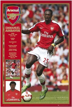 Arsenal - adebayor 08/09 Affiche