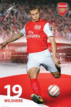 Arsenal - wilshere 11/12 Affiche