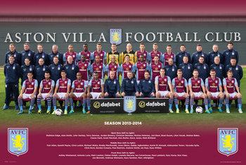 Aston Villa FC - Team Photo 13/14 Affiche