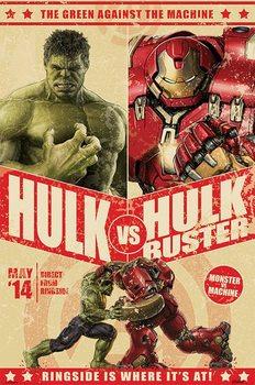 Avengers 2: L'Ère d'Ultron - Hulk Vs Hulkbuster Affiche