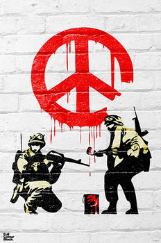 Banksy - Peace soldiers Affiche