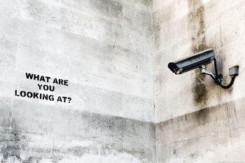 Banksy street art - Graffiti Camera Affiche