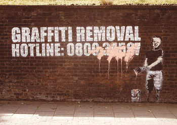 Banksy Street Art - Graffity Removal Hotline Affiche
