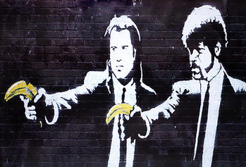 Banksy Street Art - Jules & Vincent Banana Affiche
