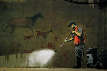 Banksy Street Art - Street Cleaner Affiche