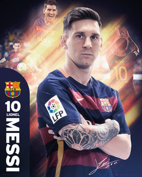 Barcelona - Messi 15/16 Affiche