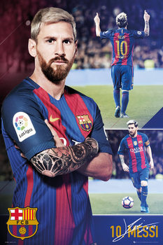 Barcelona - Messi collage 2017 Affiche