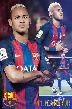Barcelona - Neymar collage 2017 Affiche