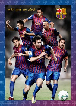 Barcelona - players 2012 Poster en 3D