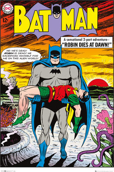 Batman Comic - Robin Dies at Dawn Affiche
