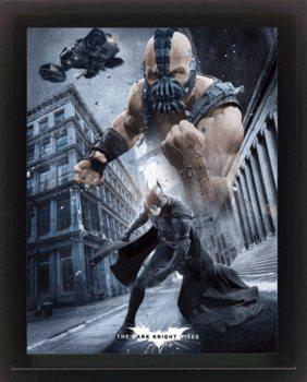 BATMAN DARK KNIGHT RISES Poster en 3D encadré