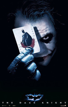 BATMAN THE DARK KNIGHT - joker card Affiche