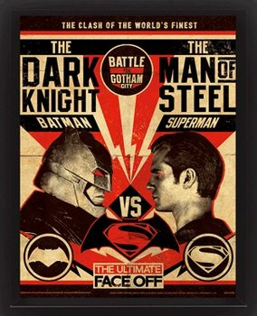Batman V Superman - Fight Poster Poster en 3D encadré