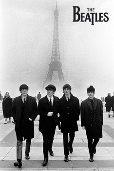 Beatles - in paris Affiche